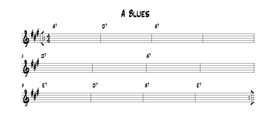 12 Bar Blues in A