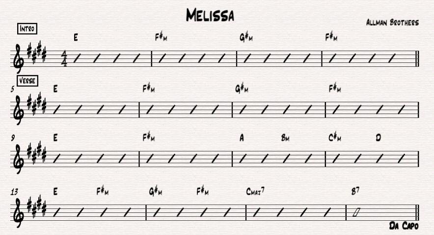 Melissa - Allman Brothers
